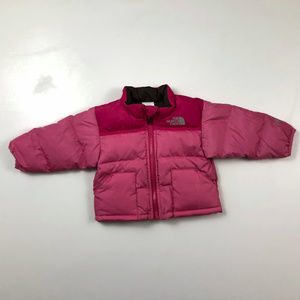 The North Face 3-6 Months Pink Down Puffer Jacket